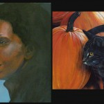 Some other oil and acrylic paintings: Whoopie Goldberg, Pumpkin Peeper and...