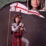 Jeanne D'Arc is OOAK Cernit and Super Sculpey.