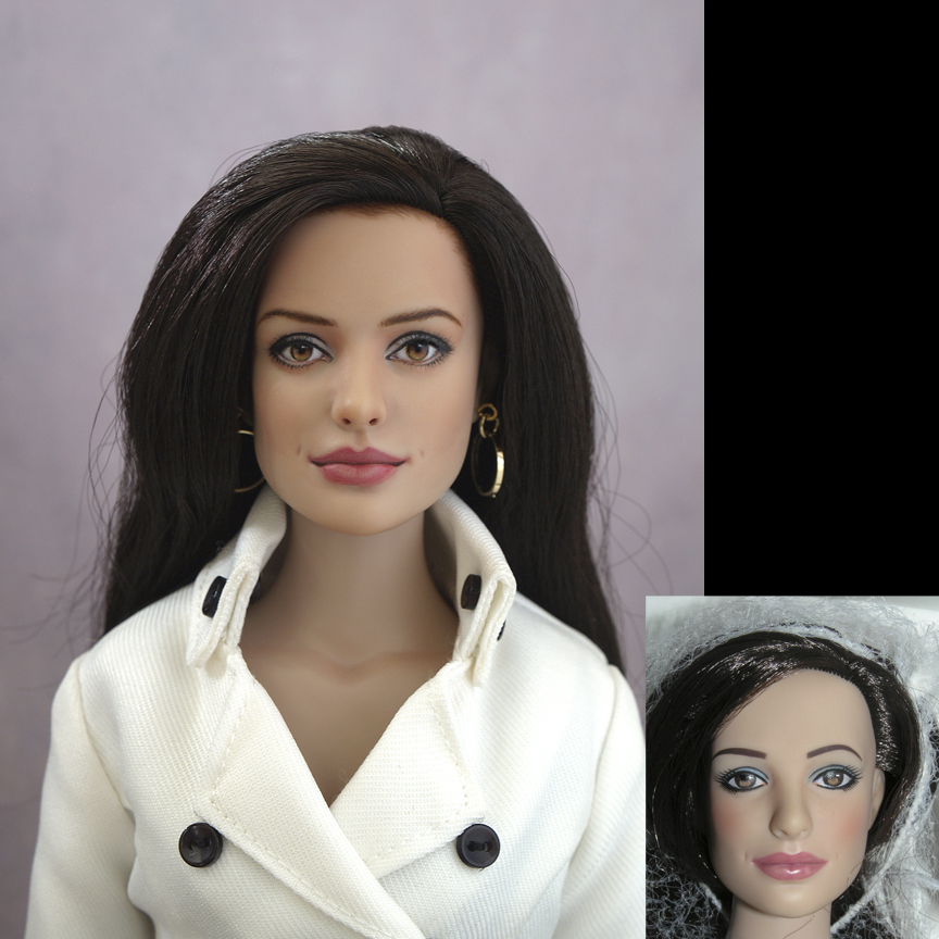 OOAK Repaint Of Anne Hathaway From Tonner Agent 99 Doll