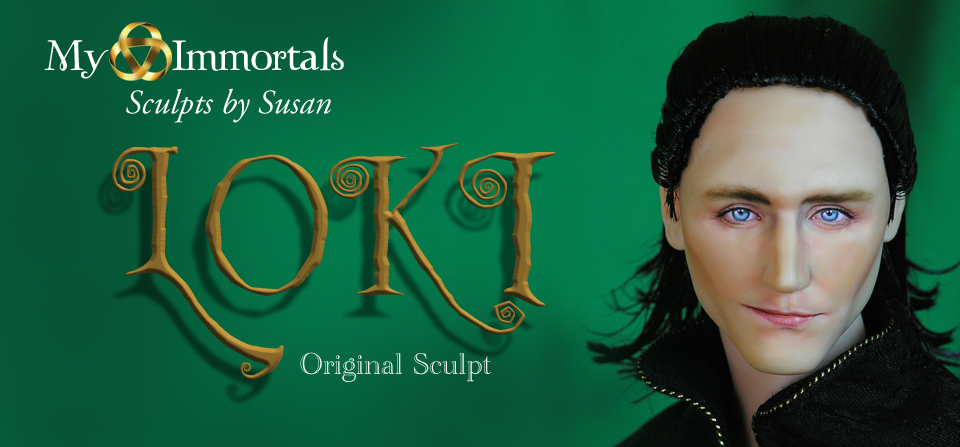 Medieval Loki-Original Head Sculpt and Costume